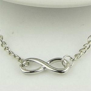"""Jewelry - Women Figure 8 Infinity Bracelet 9"""" Silver Color"""